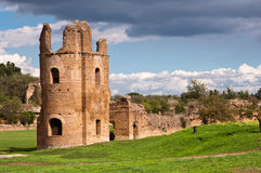 Circo di Massenzio tower and walls riuns in Via appia antica at Stock Photos