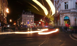 Circo di Picadilly alla notte. Fotografie Stock Libere da Diritti