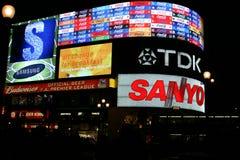 Circo di Piccadilly alla notte Fotografia Stock