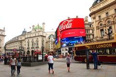 Circo di Piccadilly Londra 2016 Regno Unito Fotografia Stock Libera da Diritti