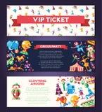 Circo, icone di carnevale ed insegne infographic degli elementi messi royalty illustrazione gratis
