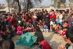 Circo a Kathmandu Fotografie Stock Libere da Diritti