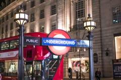 Circo LONDRES, Inglaterra - Reino Unido de Piccadilly de la estación del metro de Londres - 22 de febrero de 2016 Imagen de archivo
