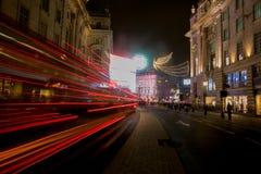 Circo na noite, Londres de Picadilly Fotografia de Stock