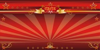 Circo rojo de la invitación Foto de archivo libre de regalías