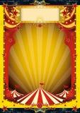 Circo rojo y amarillo Imagen de archivo libre de regalías