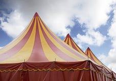 Circo rosso e giallo Fotografia Stock
