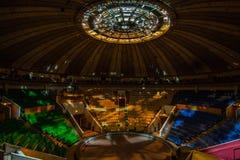 Circo vuoto nella notte Fotografia Stock