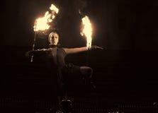Circo Walkea del fuego Imagen de archivo