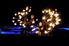 Circo Walkea del fuego Imagenes de archivo