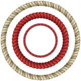Circolare della corda Fotografia Stock