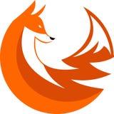Circolare di riserva della volpe di logo Immagini Stock Libere da Diritti