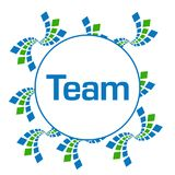 Circolare di Team Green Blue Abstract Squares Illustrazione di Stock