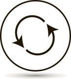 Circolazione dell'icona Bottone di risistemazione, icona della ricarica illustrazione di stock