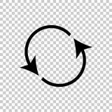 Circolazione dell'icona Bottone di risistemazione, icona della ricarica Illust dell'icona di vettore illustrazione di stock