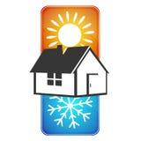 Circolazione domestica calda e fredda illustrazione di stock