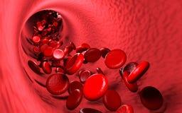 Circolazione sanguigna dell'eritrocito illustrazione di stock