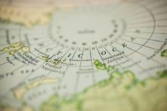 Circolo polare artico sulla mappa fotografia stock libera da diritti