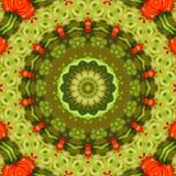 Circondi il fondo sintetico caleidoscopico di arte, la geometria complessa Immagine Stock
