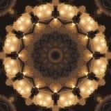 Circondi il fondo sintetico caleidoscopico di arte, la geometria complessa Immagini Stock Libere da Diritti