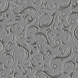 Circondi l'ornamento astratto floreale del modello d'annata senza cuciture in tonalità di grey Fotografia Stock