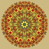 Circondi l'ornamento, merletto rotondo ornamentale Fotografie Stock