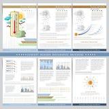 Circostanze finanziarie favorevoli Due lati dell'affare ripiegabili ed aletta di filatoio Elementi di Infographics in st piana mo illustrazione di stock