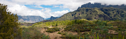circque de krajobrazowy mafate Zdjęcie Royalty Free