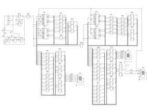 Circuit électrique d'un compteur Image stock