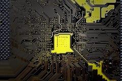 Circuit électronique d'ordinateur. Images libres de droits