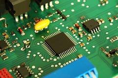 Circuit électronique de panneau d'ordinateur Photographie stock