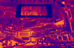 Circuit. Close up of a circuit board (infrared Royalty Free Stock Image