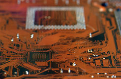 Circuit. Close up of a circuit board Royalty Free Stock Images