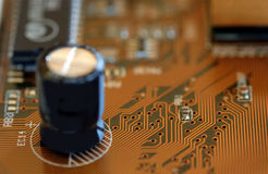 Circuit. Close up of a circuit board Stock Photo
