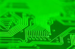 Circuit. Close up of a circuit board (green Stock Photography