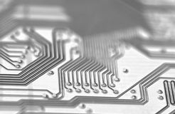 Circuit. Close up of a circuit board (flux Stock Photo