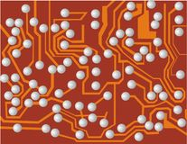 Circuit. Vector illustration of electronic circuit Royalty Free Stock Photography
