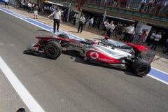 Circuit 2010 de rue de F1 Valence Photos stock