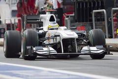 Circuit 2010 de rue de F1 Valence Images stock