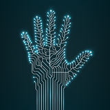 Circuit abstract hand. Vector illustration. Eps 10 Stock Photo