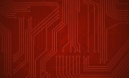 Circuit background. Abstract circuit theme colored background . Objects in  drawing are grouped for easy editing Stock Photos