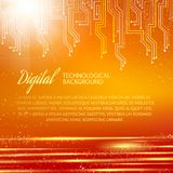 Circuit background with light effect. Vector Stock Photography