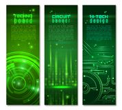 Circuit Banner Set Royalty Free Stock Photography