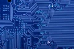 circuit bleu de panneau Photo stock