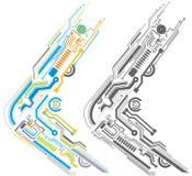 Circuit board. Two color circuit borad pattern design Royalty Free Stock Photos