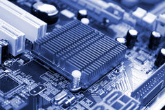 Circuit Board. Background possible to use for internet, printing and project Stock Photo