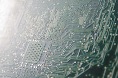 Circuit board. Back of a circuit board - useful  as a background Royalty Free Stock Image