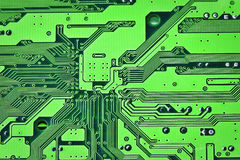 Circuit board. Green electric circuit board background Royalty Free Stock Photo