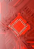 Circuit board. Red circuit board close up. Electronic background Stock Images