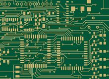 Circuit Board. Vector file, change the colors as you like Royalty Free Stock Images